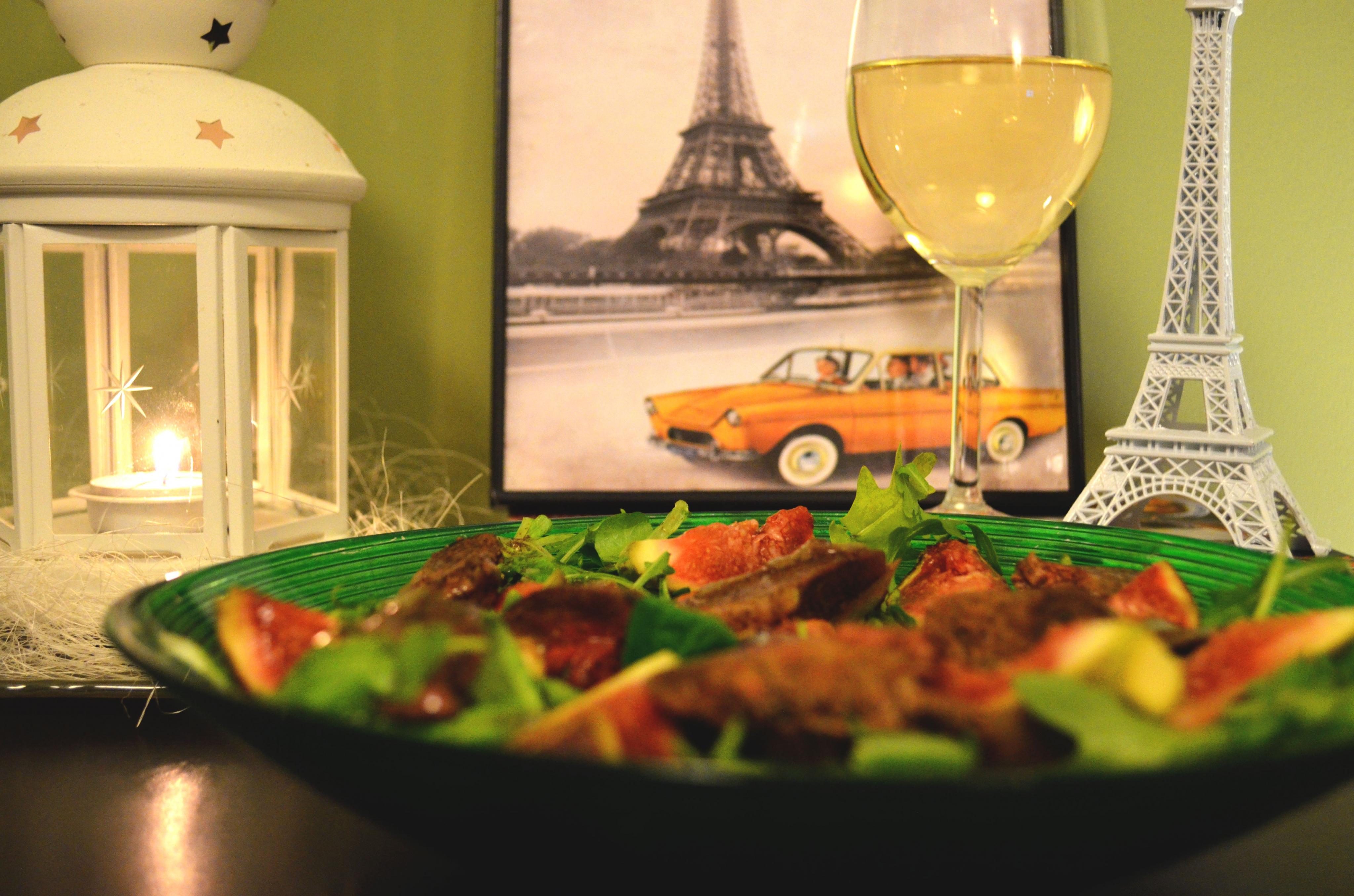Salade de figues et foies de volailles!