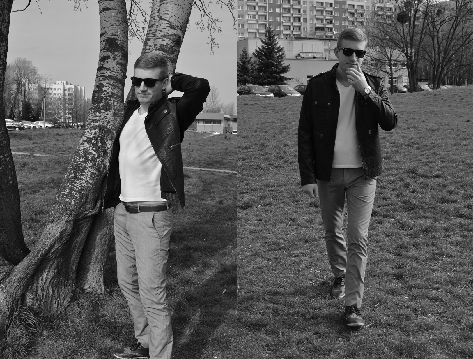 In style of James Dean!