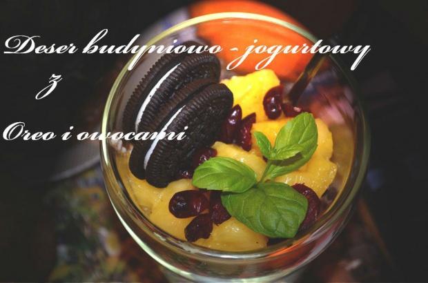 Deser budyniowo ? jogurtowy z Oreo i owocami!