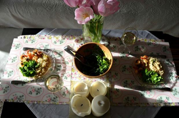 Zdrowy obiad ? krewetki w białym winie!