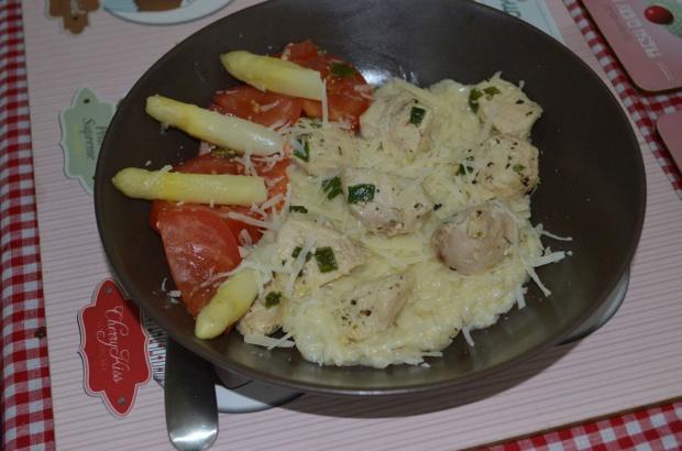 Risotto z kurczakiem i szparagami!